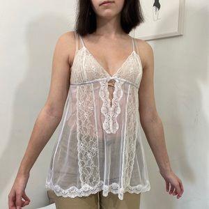 White Lace Lingerie Top